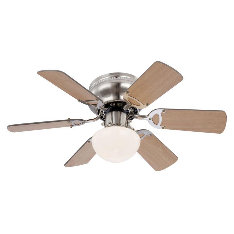 Globo UGO 0307 mennyezeti ventilátor matt nikkel 1 * E27 max. 60 W E27 1 db
