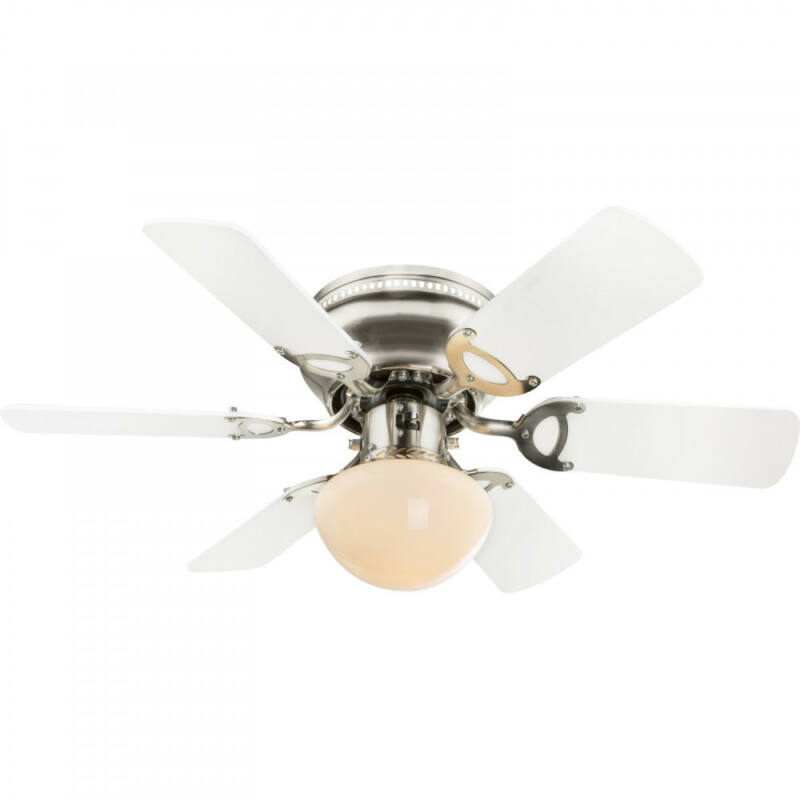 Globo UGO 0307W mennyezeti ventilátor matt nikkel 1 * E27 max. 60 W E27 1 db