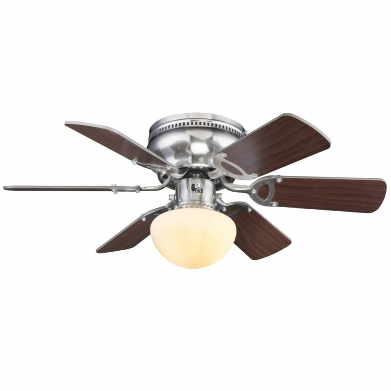 Globo UGO 0307WE mennyezeti ventilátor matt nikkel 1 * E27 max. 60 W E27 1 db