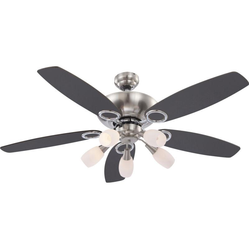 Globo JERRY 0337 mennyezeti ventilátor króm 5 * E14 max. 40 W E14 5 db