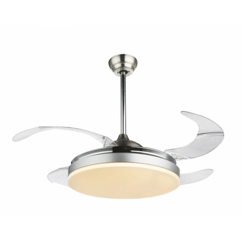 Globo CABRERA 0350 mennyezeti ventilátor  matt nikkel   fém   1 * LED max. 36 W   2180 lm  A