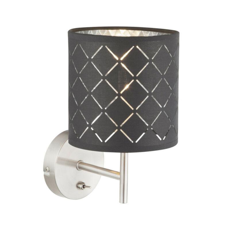Globo KIDAL 15228W fali lámpa kapcsolóval matt nikkel 1 * E14 max. 40 W E14 1 db