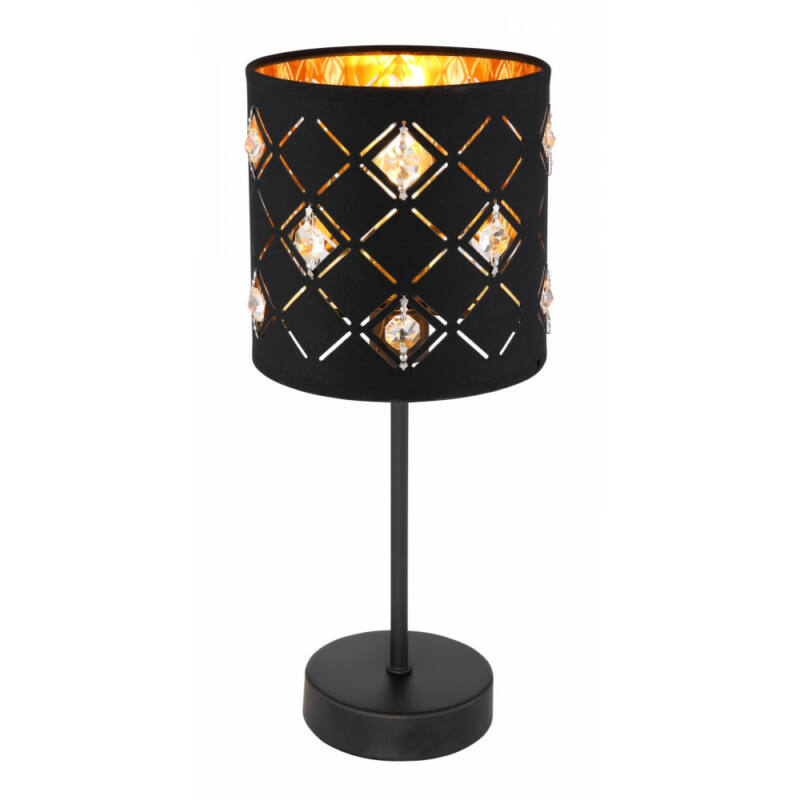Globo ABBEY 15448T asztali lámpa matt fekete fém E14 1 db 0 lm