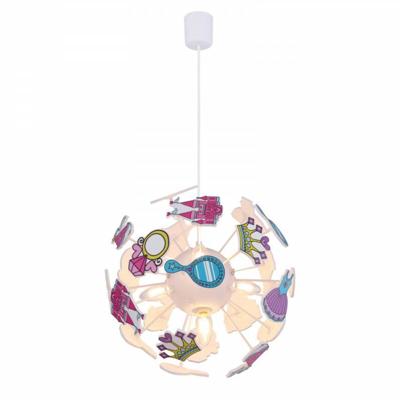 Globo LURRA 15734 csillár gyerekszobába fehér műanyag 4 * E14 max. 40 W E14 4 db IP20