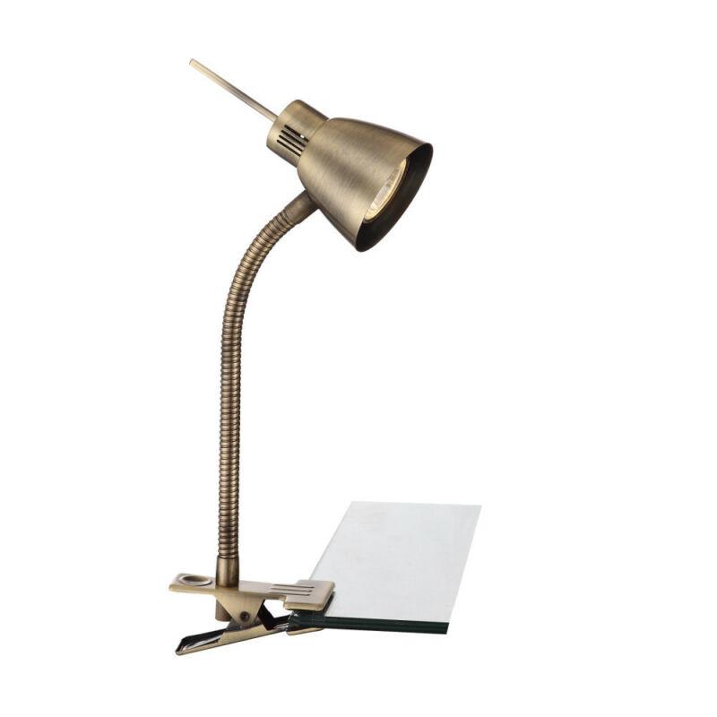 Globo NUOVA 2477L csiptetős asztali lámpa antik réz 1 * GU10 LED max. 3 W GU10 LED 1 db 165 lm 3000 K A+