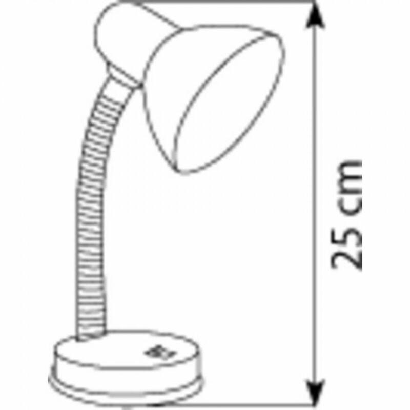 Globo BASIC 2487 íróasztal lámpa króm fém 1 * E27 max. 40 W E27 1 db IP20