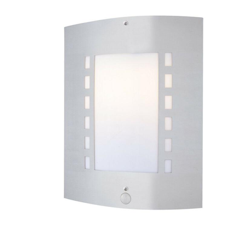 Globo ORLANDO 3156S mozgásérzékelős fali lámpa rozsdamentes acél 1 * E27 max. 60 W E27 1 db IP44