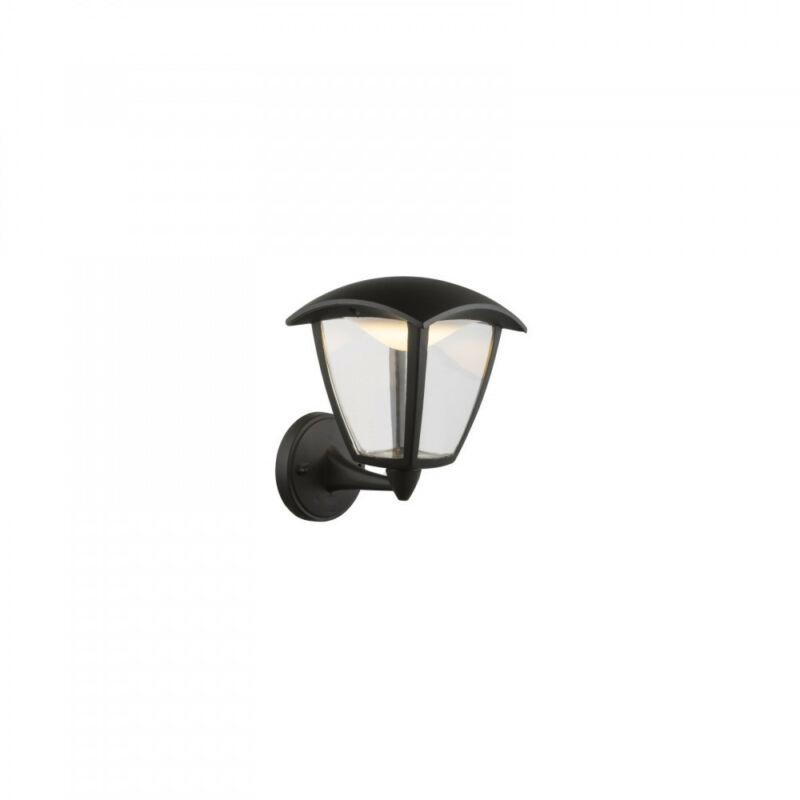 Globo DELIO 31825 kültéri fali led lámpa fekete alumínium 1 * LED max. 7 W LED 1 db 360 lm 3000 K IP44 A
