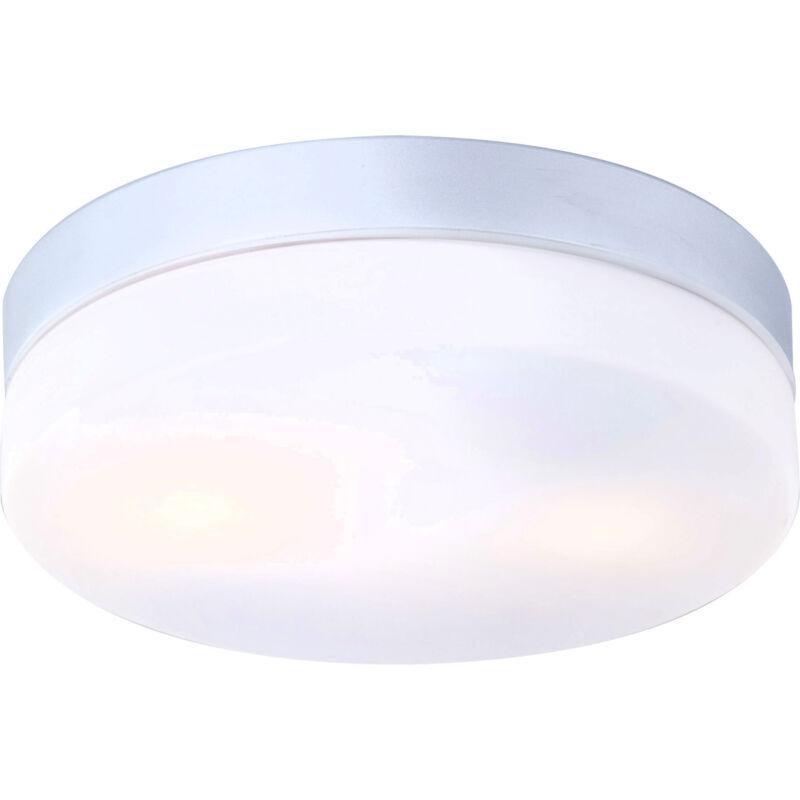 Globo VRANOS 32112 fürdőszoba mennyezeti lámpa ezüst metál alumínium 2 * E27 ILLU max. 40 W E27 ILLU 2 db IP44