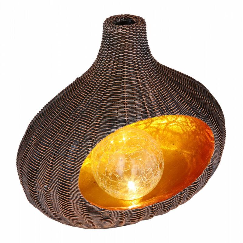 Globo SOLAR 33525 kültéri dekoráció barna műanyag LED 3000 K IP44
