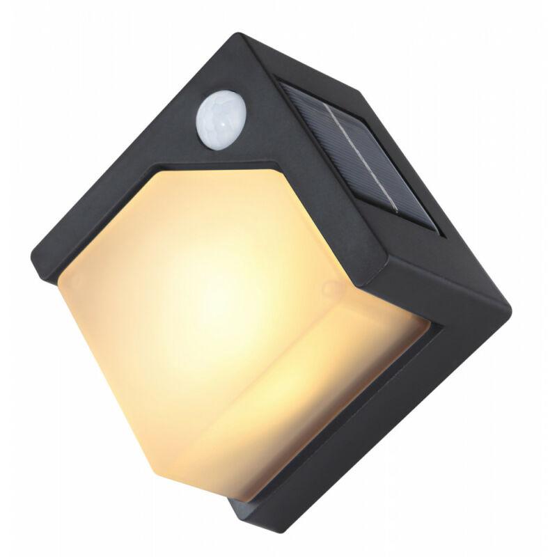 Globo SOLAR 36480 mozgásérzékelős fali lámpa fekete műanyag LED 3000 K IP44