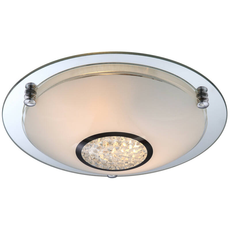 Globo EDERA 48339-2 mennyezeti kristálylámpa króm 2 * E27 ILLU max. 60 W E27 ILLU 2 db
