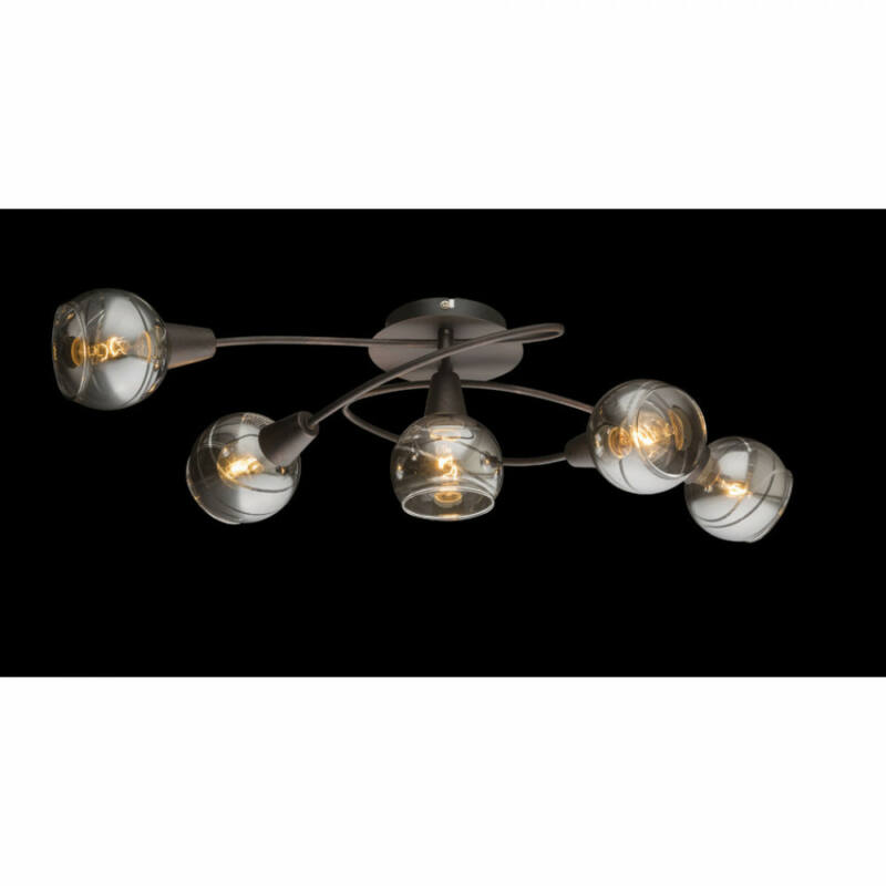 Globo ISLA 54347-5 mennyezeti lámpa  bronz   5 * E14 LED max. 4 W   196 lm  3000 K  A+