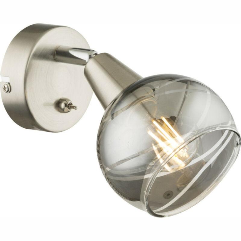 Globo ROMAN 54348-1 fali lámpa matt nikkel 1 * E14 LED max. 4 W E14 LED 1 db 200 lm 3000 K A+