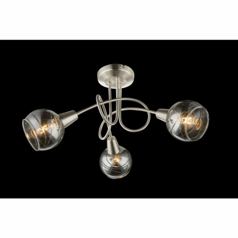 Globo ROMAN 54348-3 mennyezeti lámpa  matt nikkel   3 * E14 LED max. 4 W   200 lm  3000 K  A+