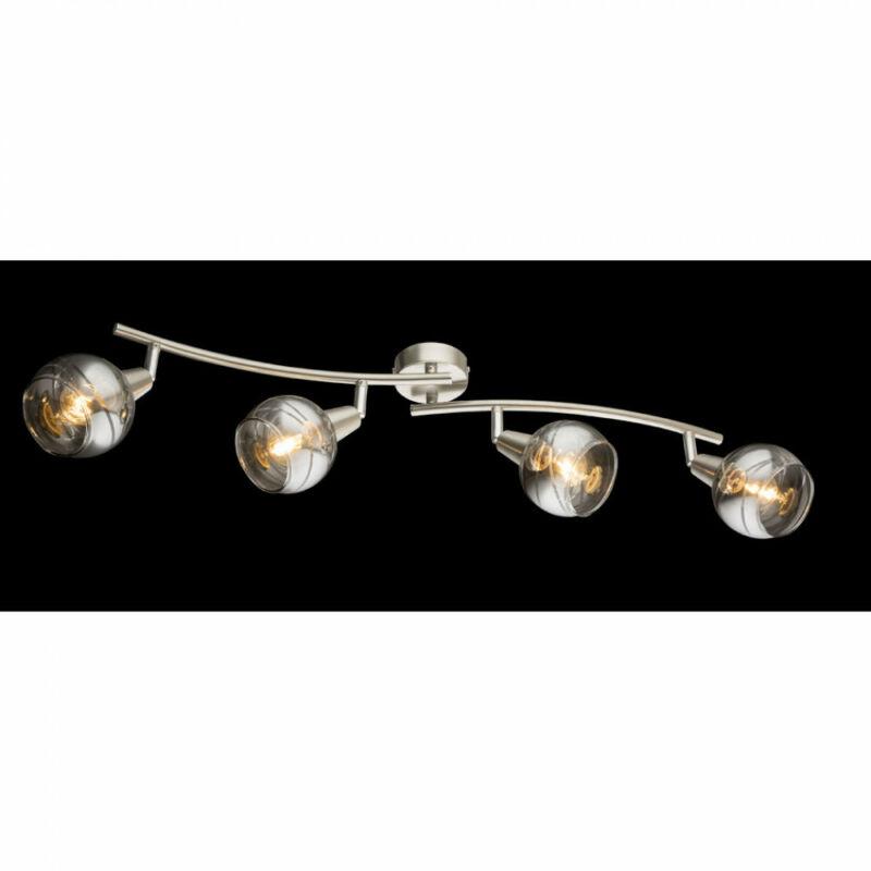 Globo ROMAN 54348-4 mennyezeti lámpa matt nikkel 4 * E14 LED max. 4 W E14 LED 4 db 200 lm 3000 K A+