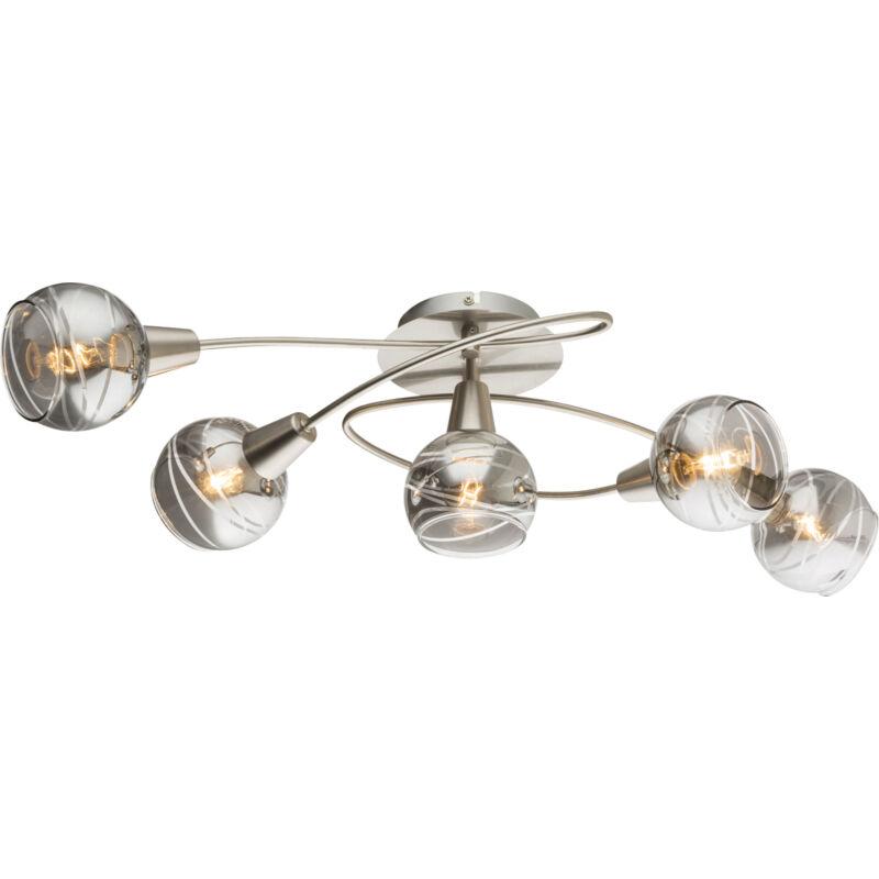 Globo ROMAN 54348-5 mennyezeti lámpa matt nikkel 5 * E14 LED max. 4 W E14 LED 5 db 200 lm 3000 K A+