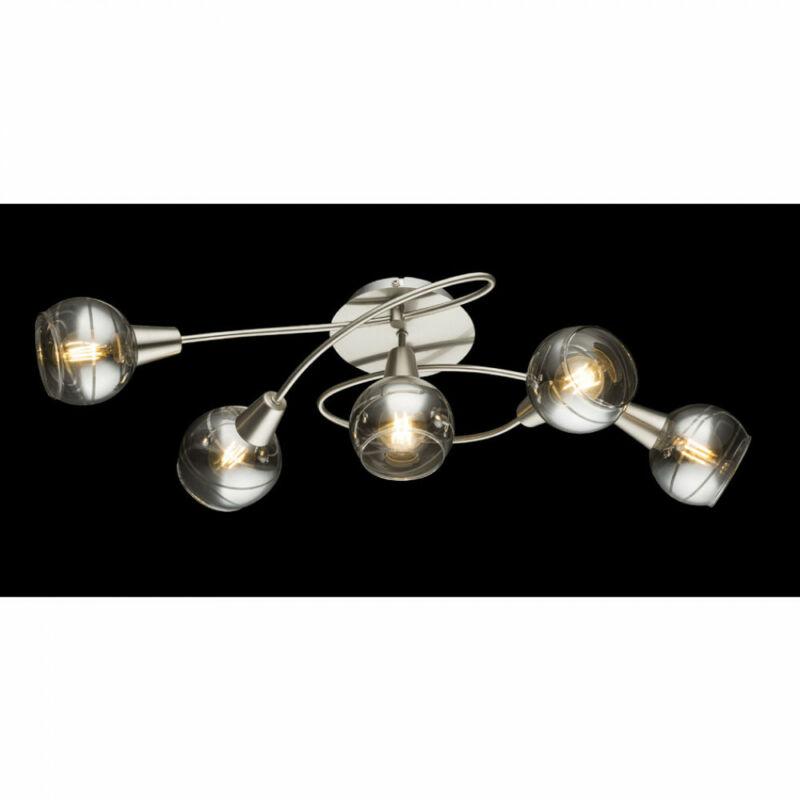 Globo ROMAN 54348-5 mennyezeti lámpa  matt nikkel   5 * E14 LED max. 4 W   200 lm  3000 K  A+