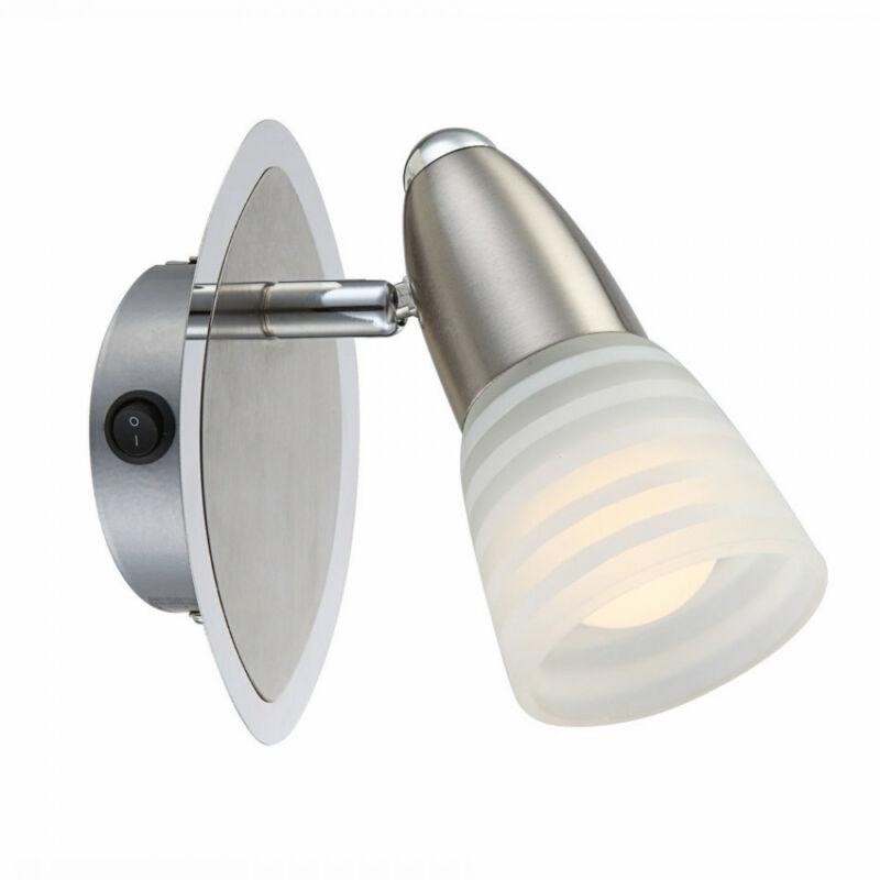 Globo CALEB 54536-1 fali lámpa kapcsolóval króm 1 x E14 max. 4w E14 1 db 400 lm 3000 K IP20 A+