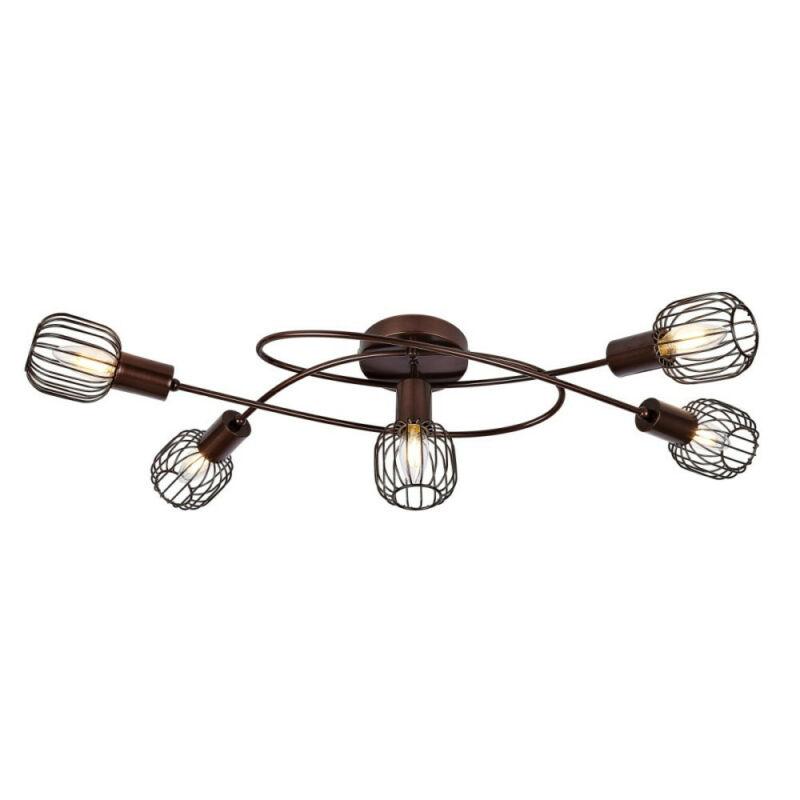 Globo AKIN 54801-5 mennyezeti lámpa  barna   5 * E14 max. 40 W