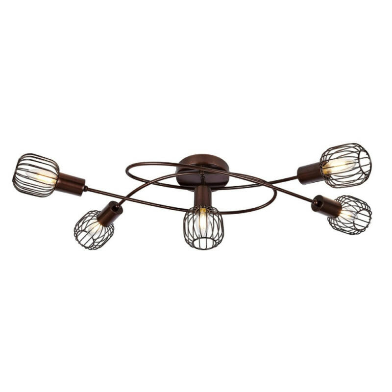 Globo AKIN 54801-5 mennyezeti lámpa barna 5 * E14 max. 40 W E14 5 db