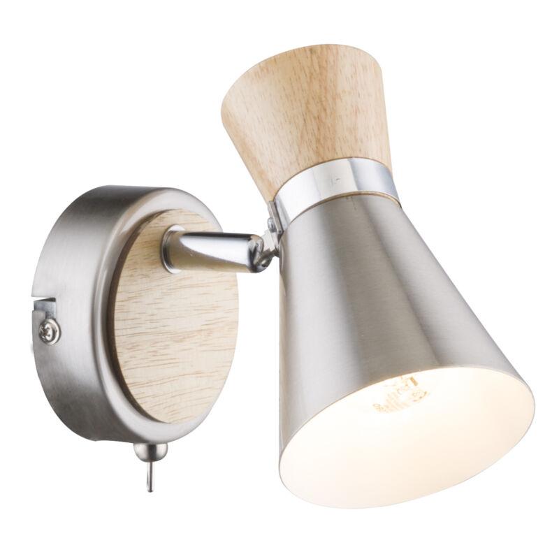 Globo MAREI 54807-1 fali lámpa kapcsolóval nikkel fém 1 * E14 max. 25 W E14 1 db