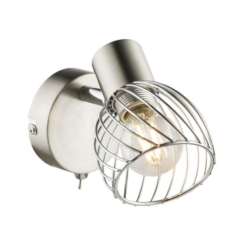 Globo TEXAS 54809-1 fali lámpa nikkel fém 1 * E14 max. 40 W E14 1 db