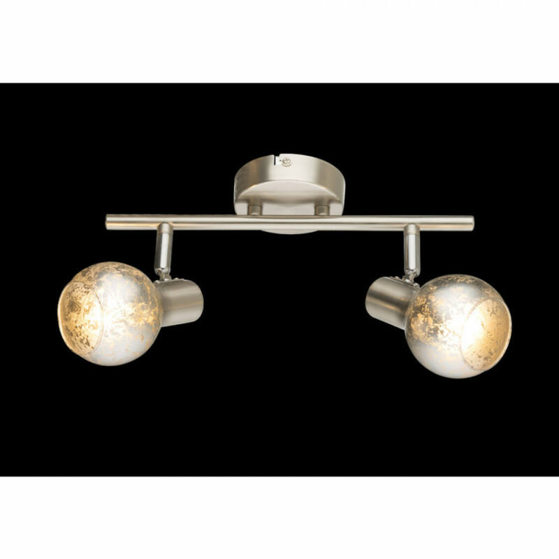 Globo ZACATE 54840-2 mennyezeti lámpa matt nikkel 2 x E14 max. 25w E14 2 db IP20