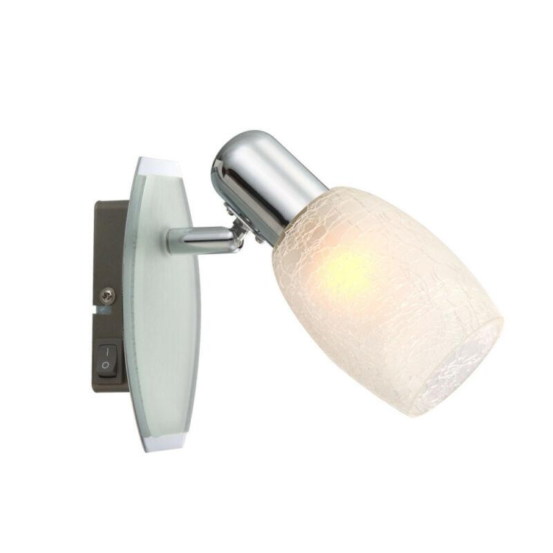 Globo CYCLONE 54917-1 fali lámpa kapcsolóval króm 1 * E14 max. 40 W E14 1 db IP20
