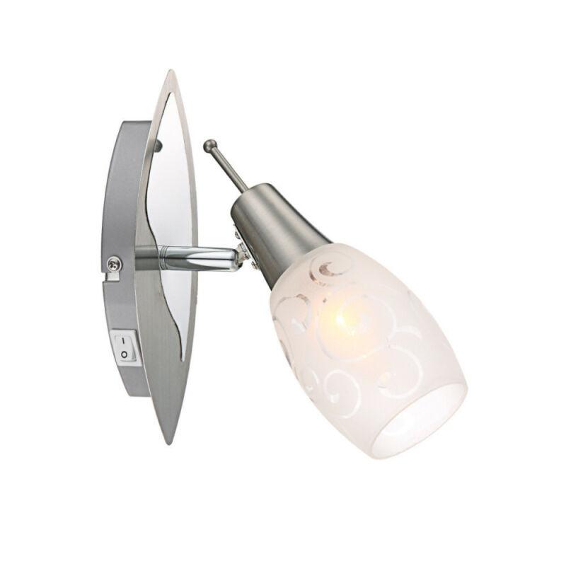 Globo FLORITA 54984-1 fali lámpa kapcsolóval króm 1 x E14 max. 40w E14 1 db IP20