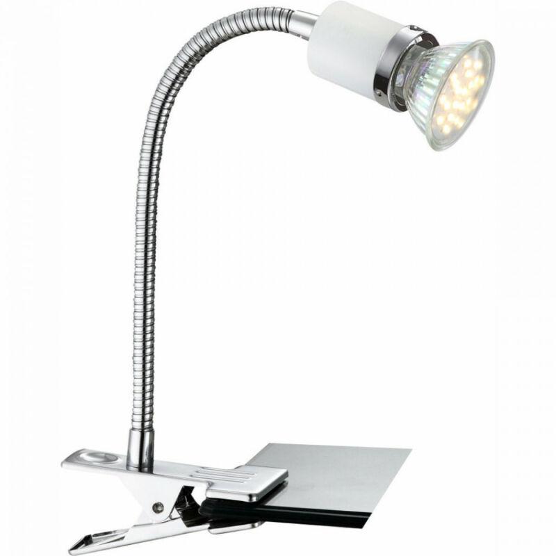 Globo FINA 57996-1K íróasztal lámpa króm 1 x GU10 max. 3w GU10 1 db 200 lm 3000 K IP20 A+