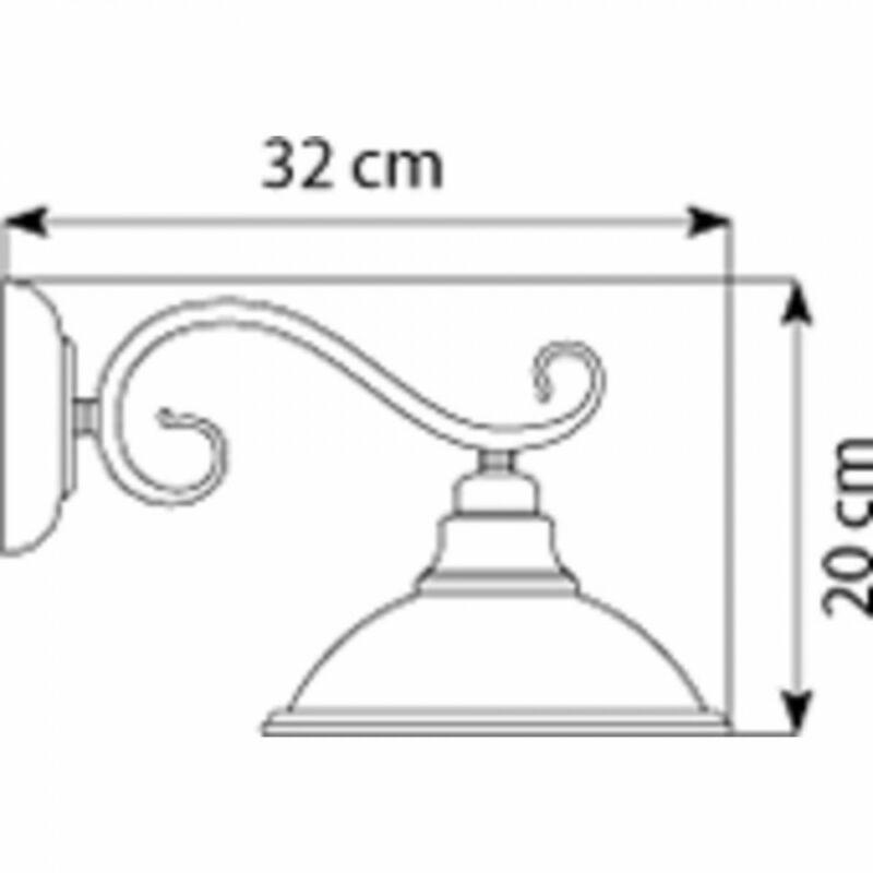 Globo SASSARI 6905-1W falikar antik sárgaréz fém 1 * E27 max. 60 W E27 1 db IP20
