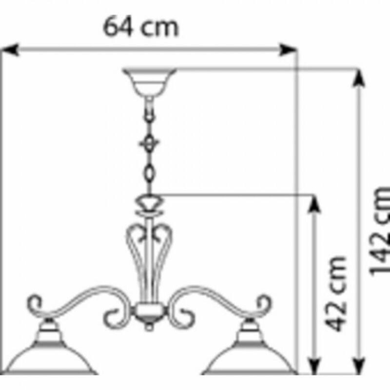 Globo SASSARI 6905-2 étkező lámpa sárgaréz fém 2 * E27 max. 60 W E27 2 db IP20