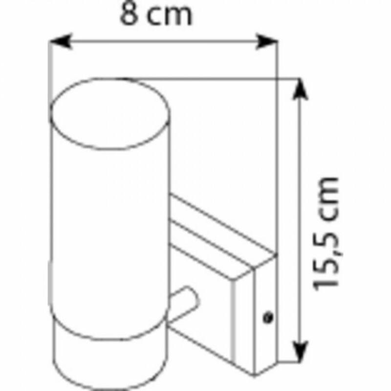 Globo SPACE 7815 fürdőszoba fali lámpa matt nikkel fém 1 * E14 max. 40 W E14 1 db IP44
