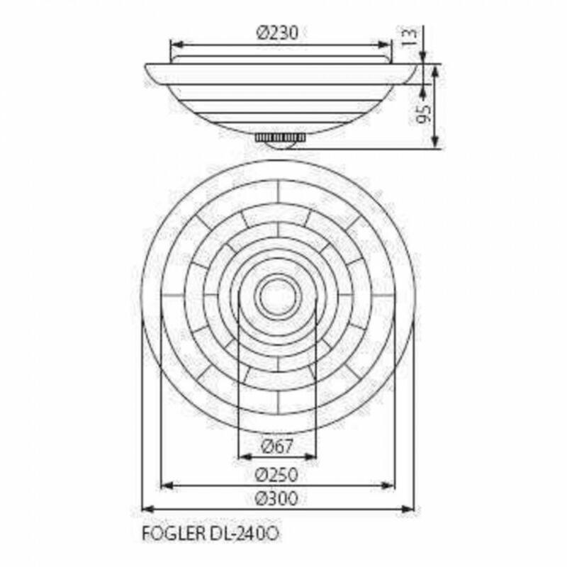 Kanlux Fogler 18120 mozgásérzékelős mennyezeti lámpa  fehér   fém   2 x E27 max. 40W   E27   2 db  IP20
