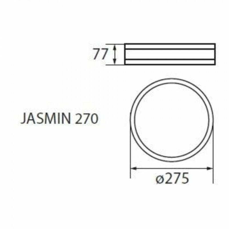 Kanlux Jasmin 23126 mennyezeti lámpa  matt fehér   fa   1 x E27 max. 60W   E27   1 db  IP20