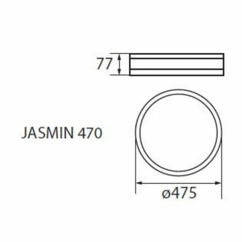 Kanlux Jasmin 23128 mennyezeti lámpa  matt fehér   fa   3 x E27 max. 60W   E27   3 db  IP20