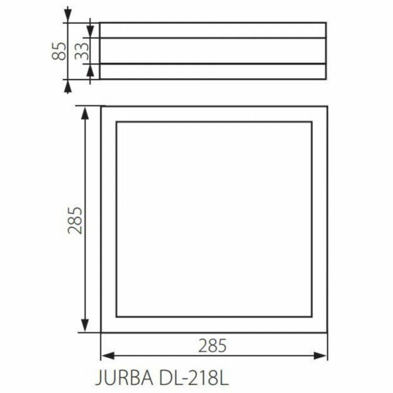 Kanlux Jurba 8981 mennyezeti lámpa  matt króm   acél   2 x E27 max. 18W   IP44