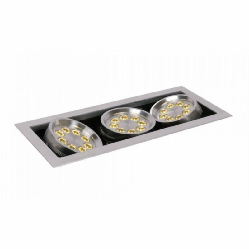 Lucide LED PRO 28905/24/12 mennyezeti spot lámpa  matt króm   alumínium   24xLED max. 1W   2700 K
