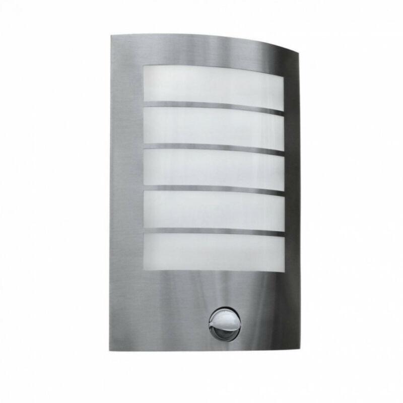 Lutec 5003116001 mozgásérzékelős fali lámpa ezüst acél E27 1 db IP44