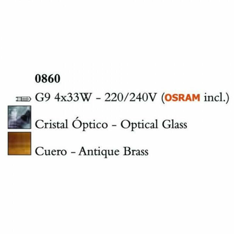 Mantra KROM 0860 egyágú függeszték sárgaréz fém 4xG9 max. 33 W G9 4 db IP20