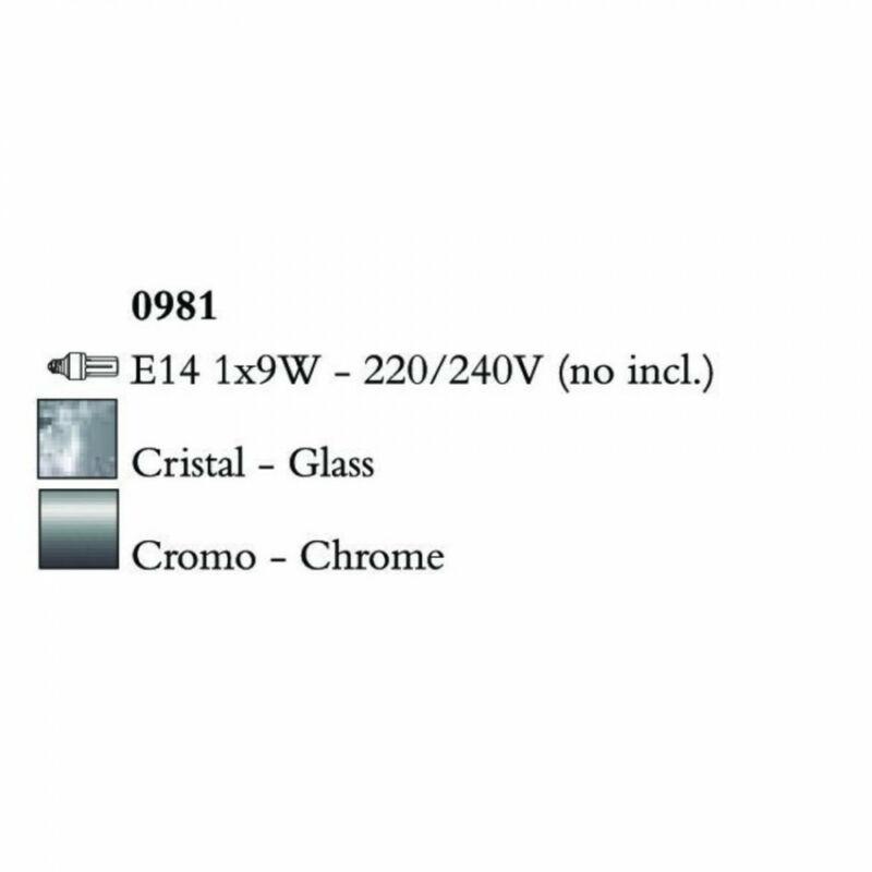 Mantra BALI CHROME E17 0981 egyágú függeszték króm 1 x max 9W E14 (NO INCLUIDA)