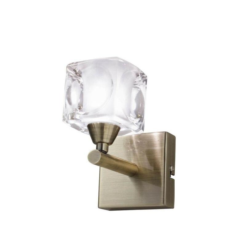 Mantra CUADRAX ANTIQUE BRASS GLASS 0992 falikar antik réz fém 1*G9 max5W G9 1 db IP20