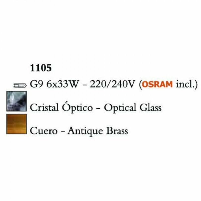 Mantra CUADRAX 1105 többágú függeszték sárgaréz fém 6xG9 max. 33 W G9 6 db IP20