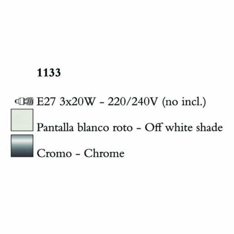 Mantra EVE 1133 egyágú függeszték króm fém 3xE27 max. 20 W E27 3 db IP20