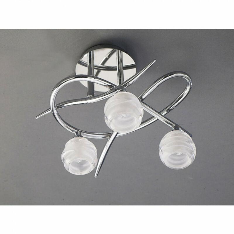 Mantra LOOP 1804 mennyezeti lámpa  króm   fém   3x G9 max. 33W