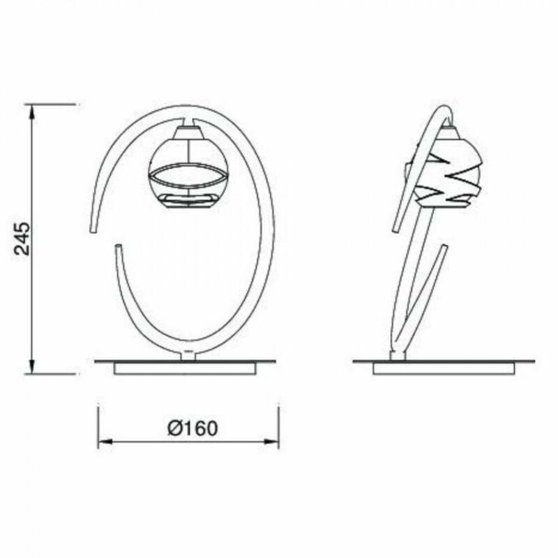 Mantra LOOP 1817 asztali lámpa szatinált nikkel fém 1xG9 max. 33 W G9 1 db
