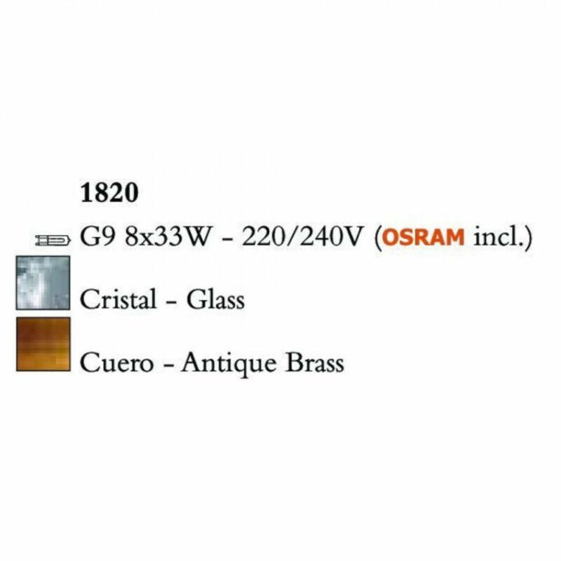 Mantra LOOP 1820 többágú függeszték sárgaréz fém 8x G9 max. 33W G9 8 db