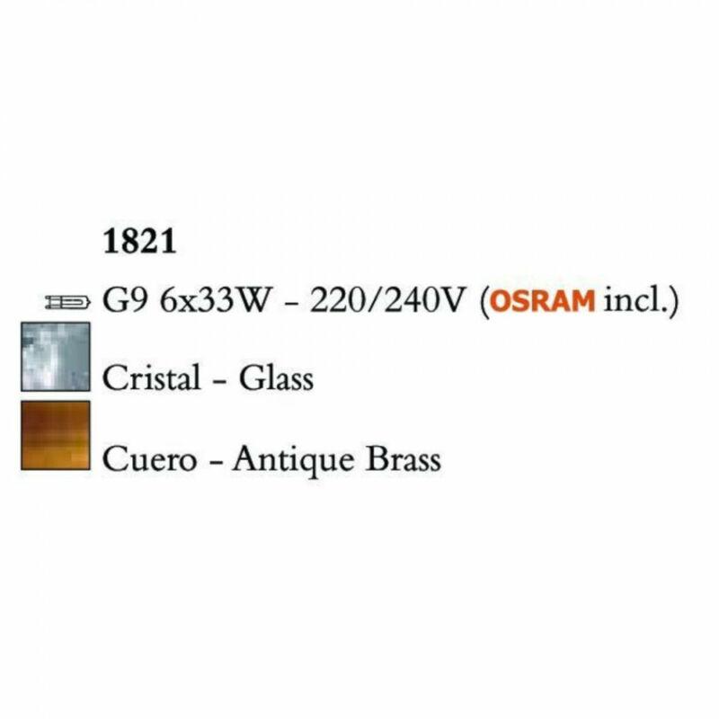 Mantra LOOP 1821 többágú függeszték sárgaréz fém 6x G9 max. 33W G9 6 db