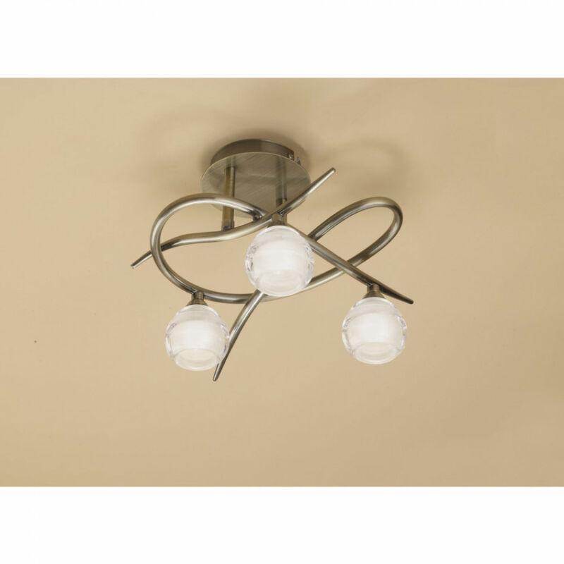 Mantra LOOP 1824 mennyezeti lámpa sárgaréz fém 3x G9 max. 33W G9 3 db